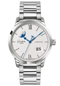 Senator Excellence Panorama Date Moon Phase, Stainless steel (1-36-04-01-02-71)