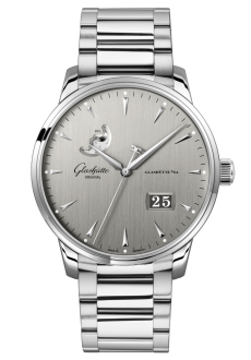 Senator Excellence Panorama Date Moon Phase, Acero noble (1-36-04-03-02-71)