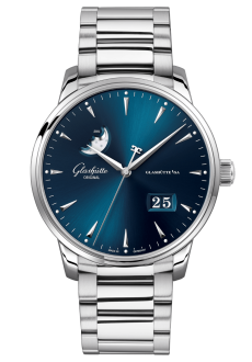 Senator Excellence Panorama Date Moon Phase, Acero noble (1-36-04-04-02-71)
