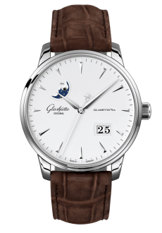 Senator Excellence Panorama Date Moon Phase, Louisiana Alligator nubuk leather strap (1-36-04-05-02-31)