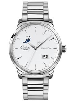 Senator Excellence Panorama Date Moon Phase, Acero noble (1-36-04-05-02-71)